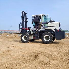 四轮升降堆高液压3吨4吨6吨内燃机多功能起重车