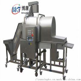 博康机械供应鸡米花裹粉机 全自动滚筒上粉机