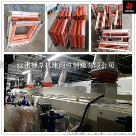 风机软接头防火耐高温圆方形排烟伸缩通风管软连接硅胶