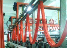 奥通电业电缆轨道滑轮铸造不锈钢U型导轨内挂排线滑轮