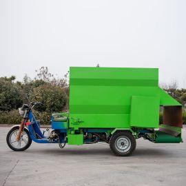 养殖饲料撒料车 电动撒料车厂家 牛羊饲料撒料车视频