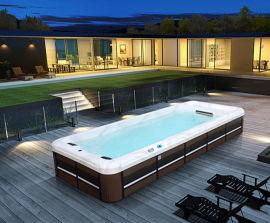 浙江戶外加熱泳池-空氣能加熱泳池-一體式智慧泳池