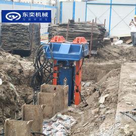 拔型钢设备 水泥土桩内插入H型钢拔桩机