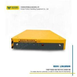 无轨非标蓄电池电动平板车 聚氨酯包胶轮无轨平车