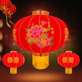 新款植绒灯笼春节喜庆福字大红灯笼