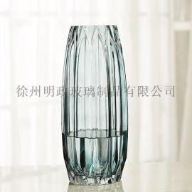 简约竖棱花瓶创  色百合花器客厅水养插花瓶花瓶摆件