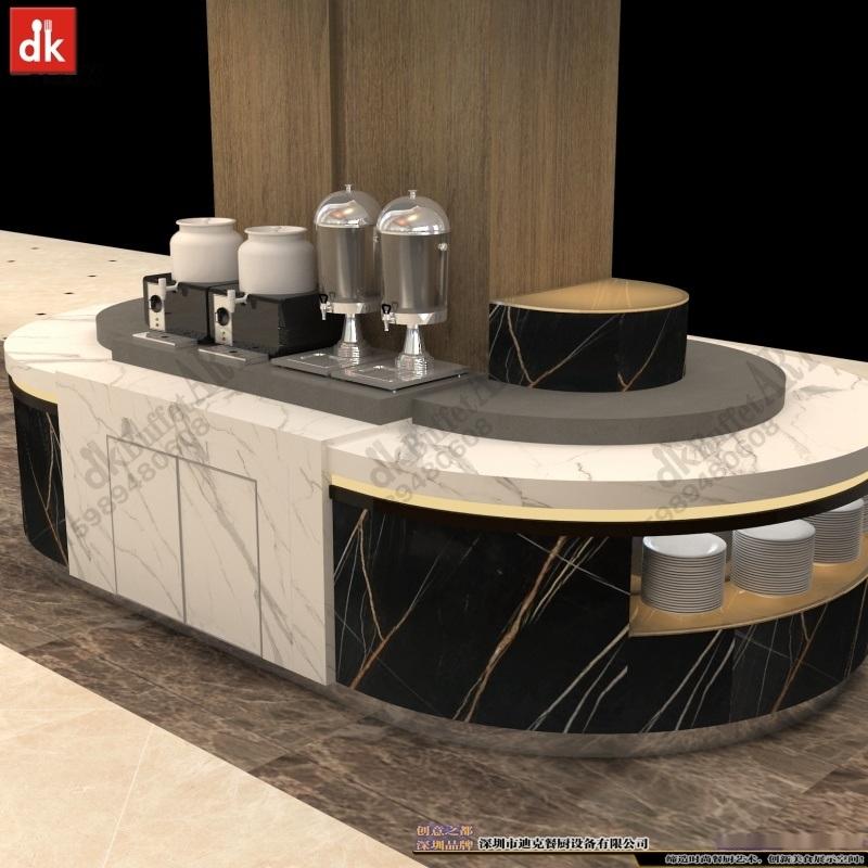定製自助餐臺大理石餐檯人造石餐檯