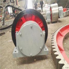 Φ2.0x16米转轴式煤泥烘干机托轮直径550规格