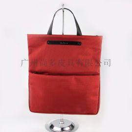 进口牛津布配头层牛皮购物袋包大容量托特包防水大包女