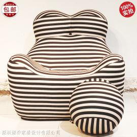 设计师 单人沙发 熊椅 青蛙椅