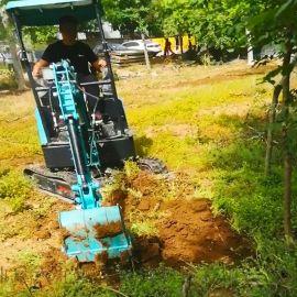 挖树机器价格 全新小型轮式挖掘机 六九重工lj 地