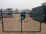 绿色框架护栏网 高速公路围栏网 安全围挡防护栏