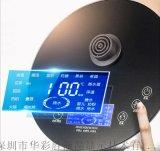 蓝底电热水壶液晶显示屏