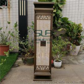 中式仿古壁灯镀铜拉丝壁挂灯小区门口两侧外墙灯