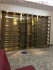 深圳新款不鏽鋼紅酒架餐廳不鏽鋼酒櫃定制落地大型酒架