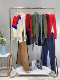 特價長款毛衣廠家一手貨源廣州卓越女裝品牌折扣批發