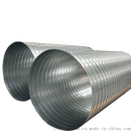 废气处理不锈钢螺旋风管纺织车间除尘螺旋风管