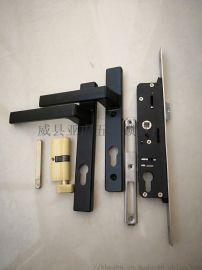 越南畅销款铝合金面板锁锁体锁芯把手