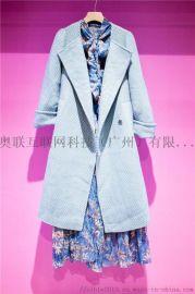 毛呢外套折扣女装修身新款韩版百搭中长款大衣
