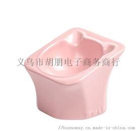 仰山碗貓零食碗陶瓷寵物碗貓狗食盆貓碗