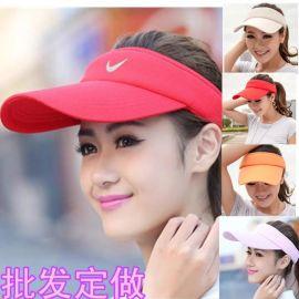 來圖來樣訂做男女通用遮陽帽沙灘帽防曬太陽帽棒球帽空頂帽子LOGO