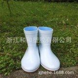 693防滑白色短款樣式精美雨靴耐磨PVC實用定製雨鞋