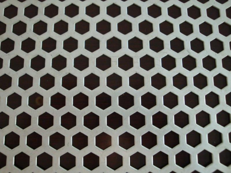 六边形孔冲孔板 六角孔板 六角形冲孔板 六角型孔板