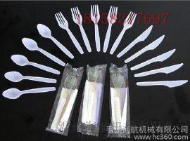 纸巾刀叉勺全自动包装机 航空一次性餐具包装