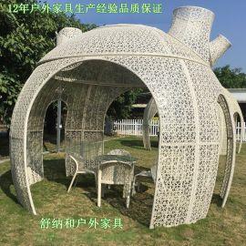 广州编藤桌椅批发|番禺户外编藤桌椅厂家