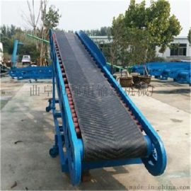爬坡式8米长装车定制 可正反转皮带装卸输送机