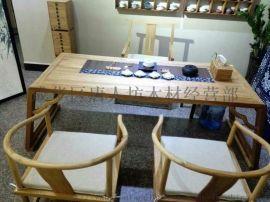 成都古典茶楼家具实木茶桌椅官帽椅茶禅椅主人办公椅子