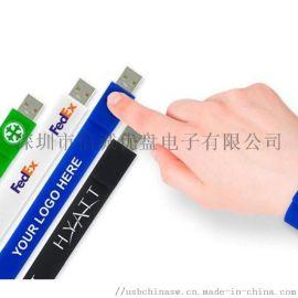 运动手腕u盘定制 啪啪带u盘,新款礼品USB随身碟 手腕USB