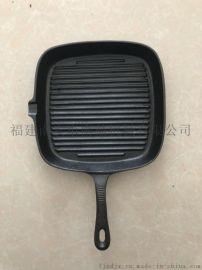 南鼎生态锅 煎牛排锅 厨房用品 手工铸造生铁锅