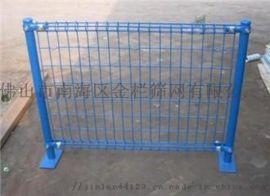 铁丝网围栏双圈护栏网镀锌钢丝护栏网