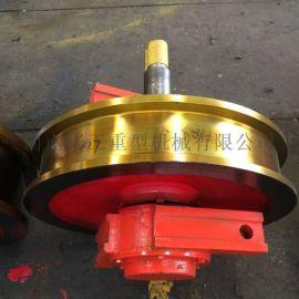 直径500*150主动车轮组 铸钢材质 双边轮子 整体调质车轮组 车轮组专业厂家 车轮组批发采购