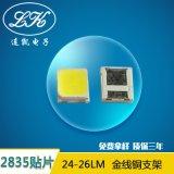 厂家直供高显指LED光源贴片式led2835灯珠正白暖白24-26lm