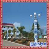 瓷燈柱廠家 手繪瓷燈柱 小區高檔裝飾陶瓷柱 3米瓷燈柱價格