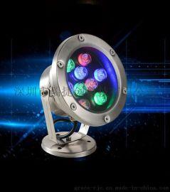 LED水底灯水下灯水池灯喷泉灯鱼池灯水下射灯36W防水