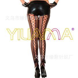 情趣絲襪批發2015新款時尚性感細網情趣網眼綁帶連褲襪百變打底褲
