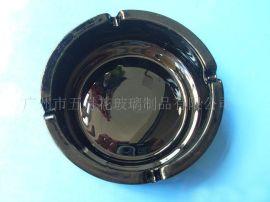 黑色玻璃烟灰缸