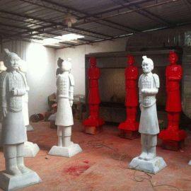 玻璃钢兵马俑公仔展示道具展商场广场雕塑