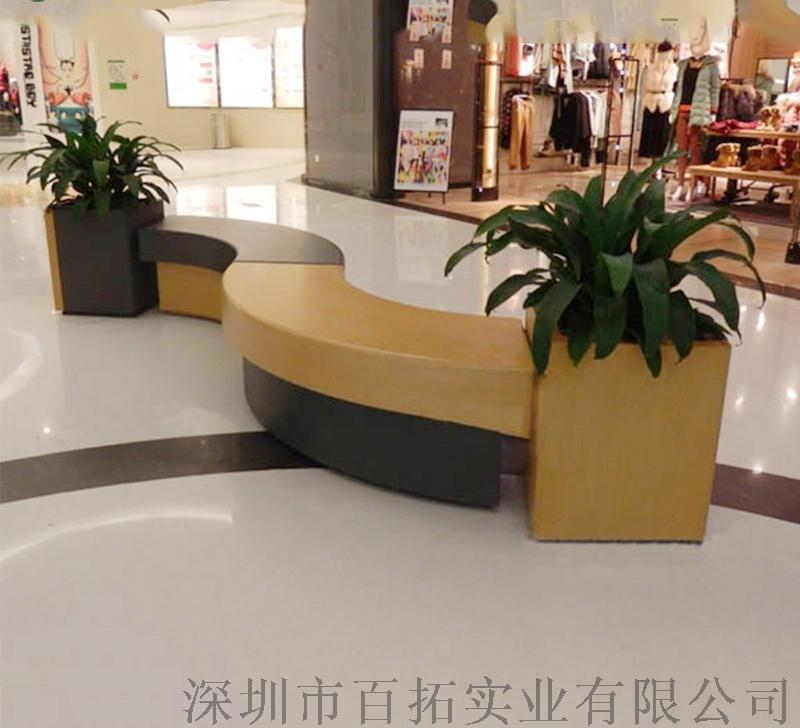 广东玻璃钢户外广场休闲座椅商场组合长条坐凳厂家