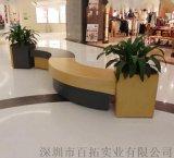 廣東玻璃鋼戶外廣場休閒座椅商場組合長條坐凳廠家