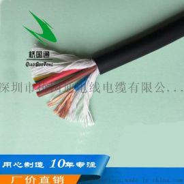 4芯高柔性扭曲耐折防油拖链电缆(可选带**)