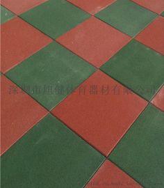 工厂直供 彩色拼接地垫小区弹性橡胶地垫包工包料