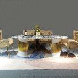 東莞廠家直銷不鏽鋼實木餐桌椅組合
