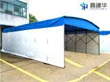 電動蓬推拉雨棚大型倉庫篷直銷停車棚寶坻區