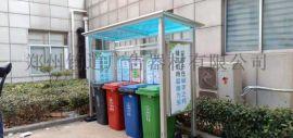 木纹垃圾分类宣传栏垃圾分类亭材料
