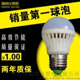 LED球泡燈節能燈環保高亮新款暖白塑料E27螺旋口3W中山 廠家直銷