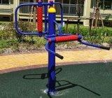 广西名扬武鸣休闲广场健身器材腰背  器安装。